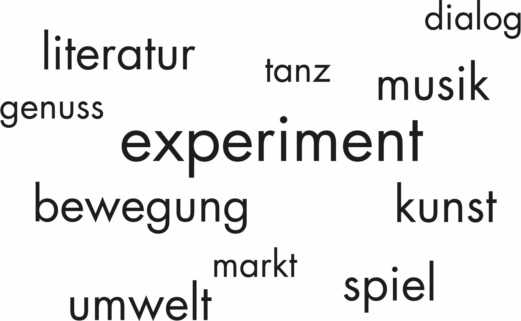 literatur tanz dialog genuss musik experiment bewegung kunst umwelt markt spiel
